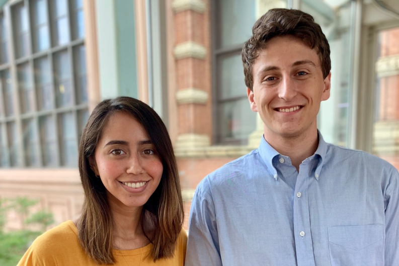 Photo of Summer 2019 interns Johany and Alex